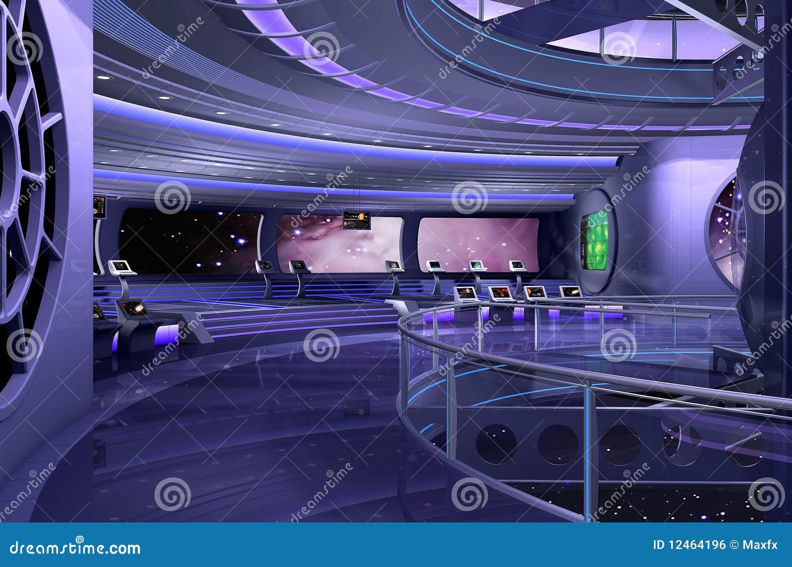 Nave espacial 3d imagem de stock royalty free imagem for Interior nave espacial
