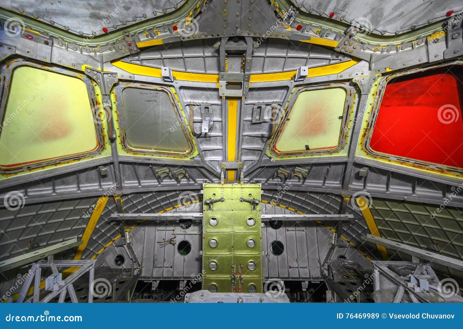 A nave espacial inacabado da cabine