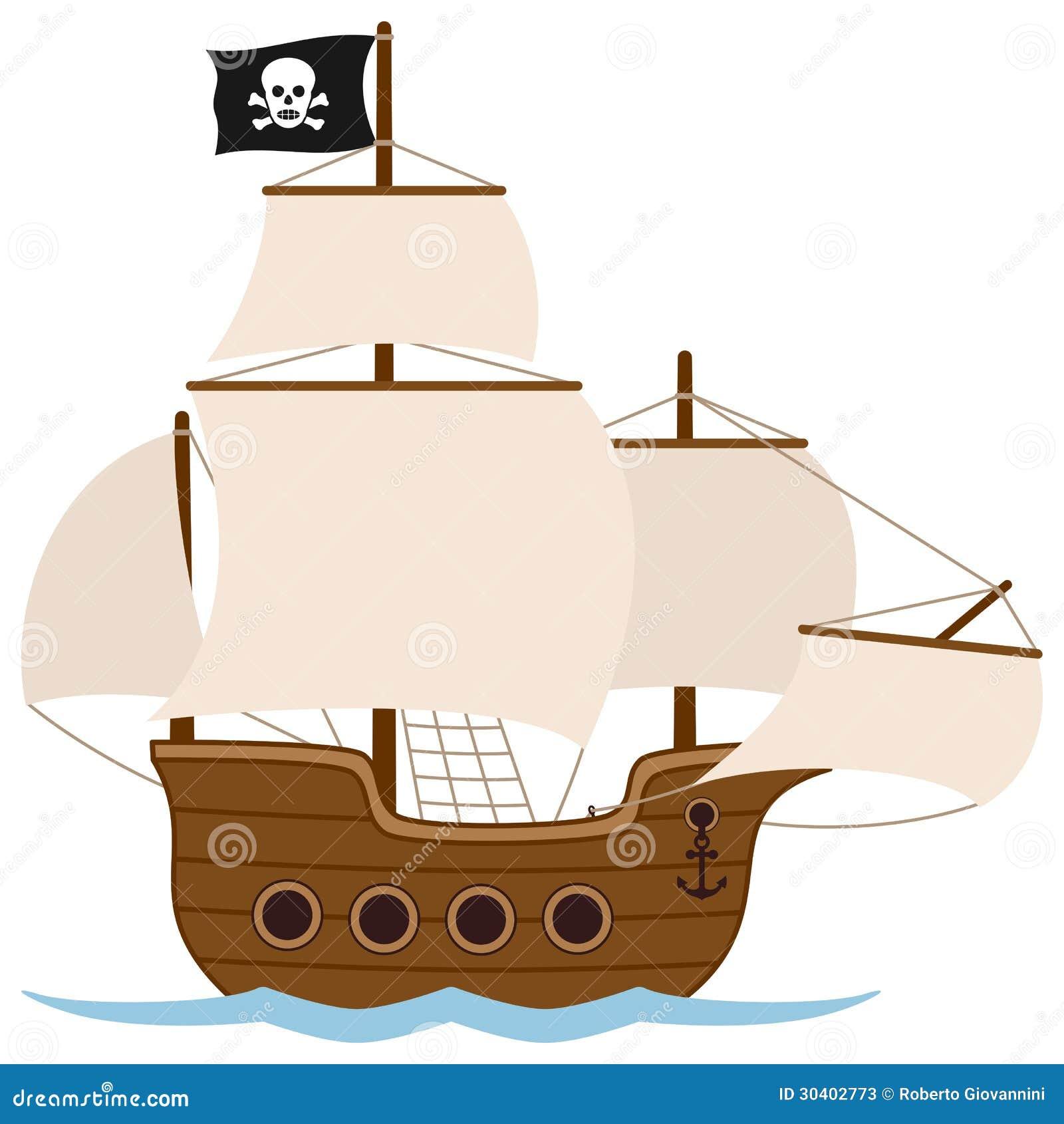 Nave o barca a vela di pirata