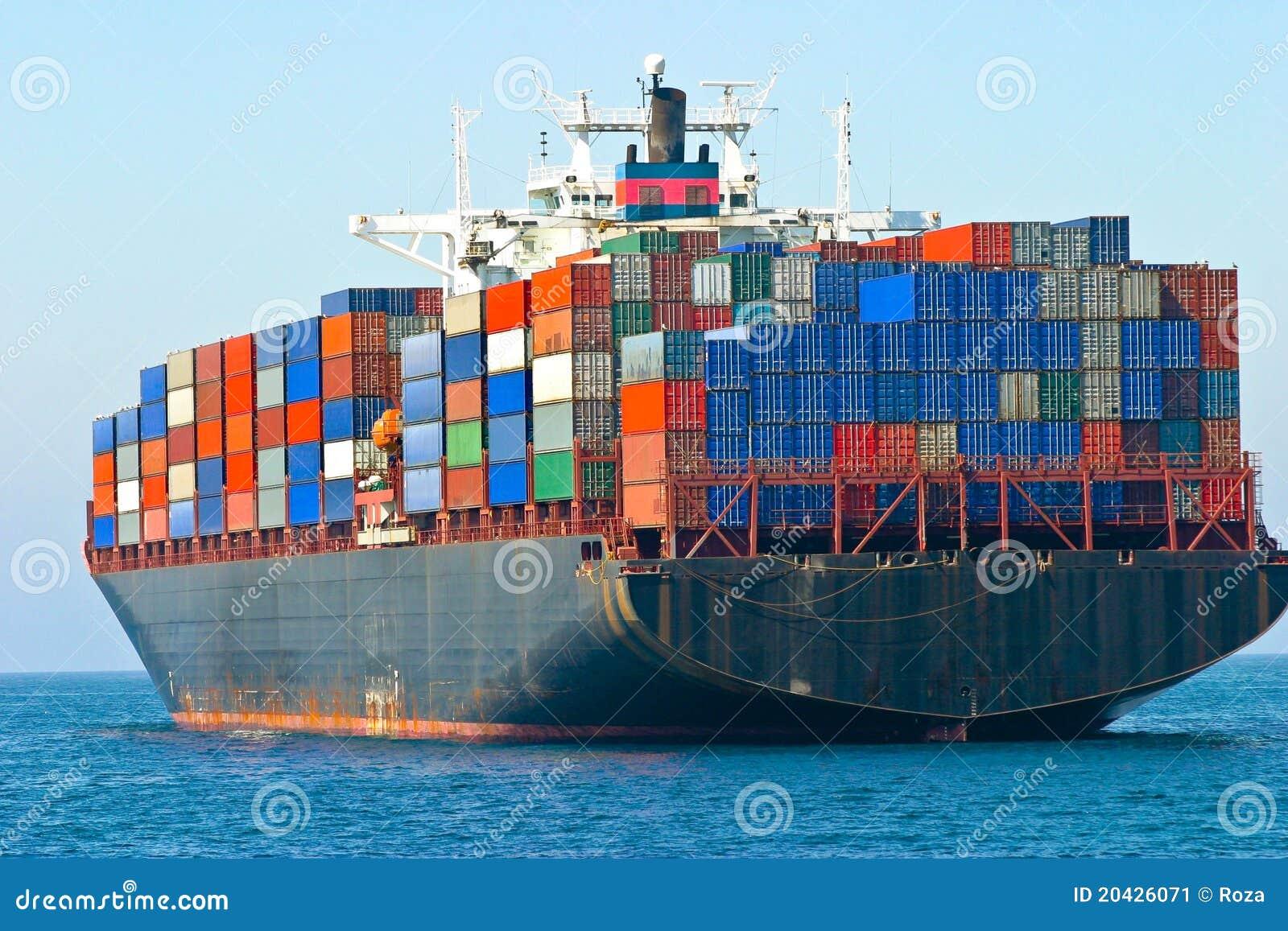 Nave Porta-container Immagine Stock - Immagine: 20426071