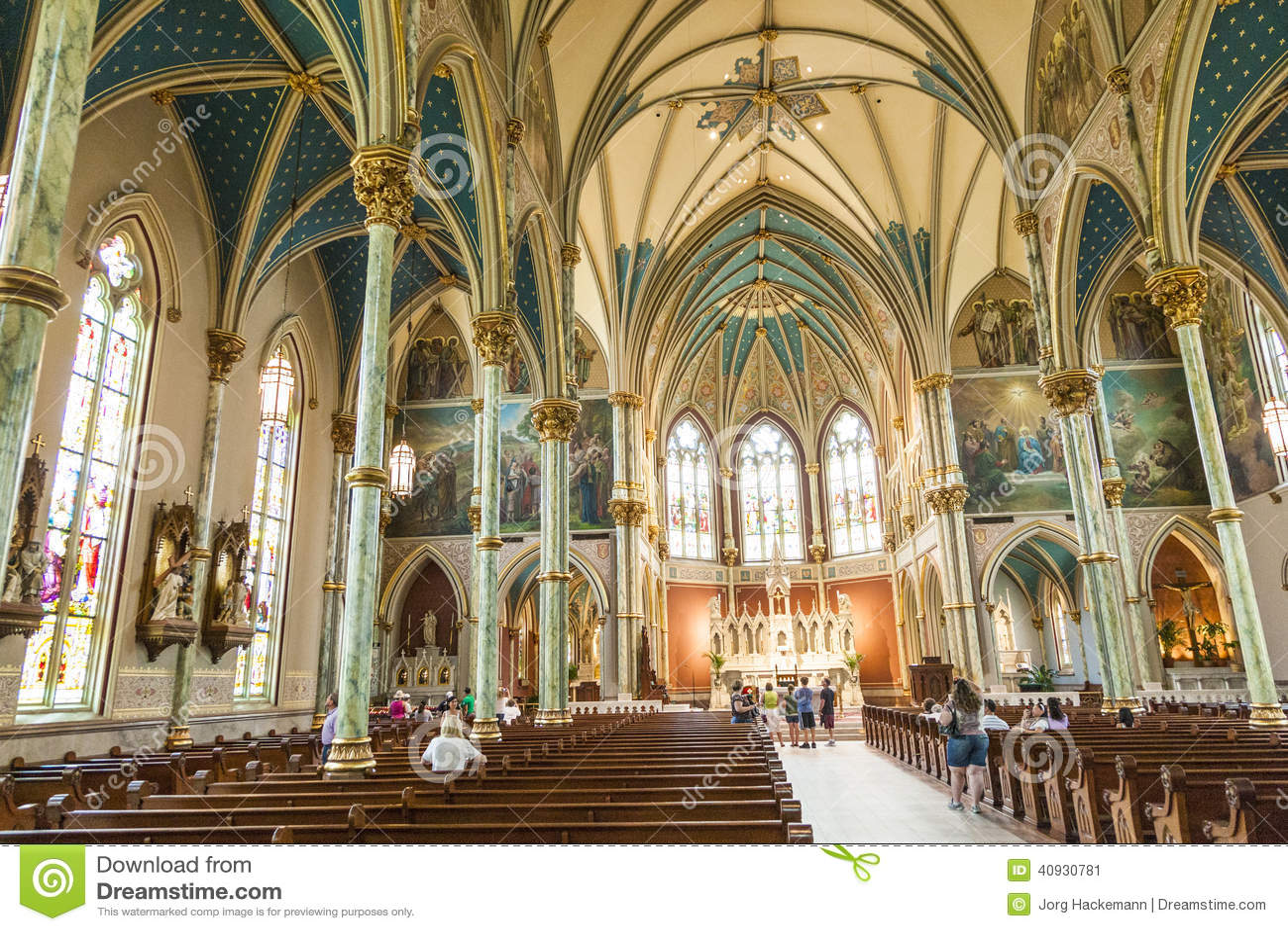 Nave Of St John The Baptist In Savannah Editorial Photo