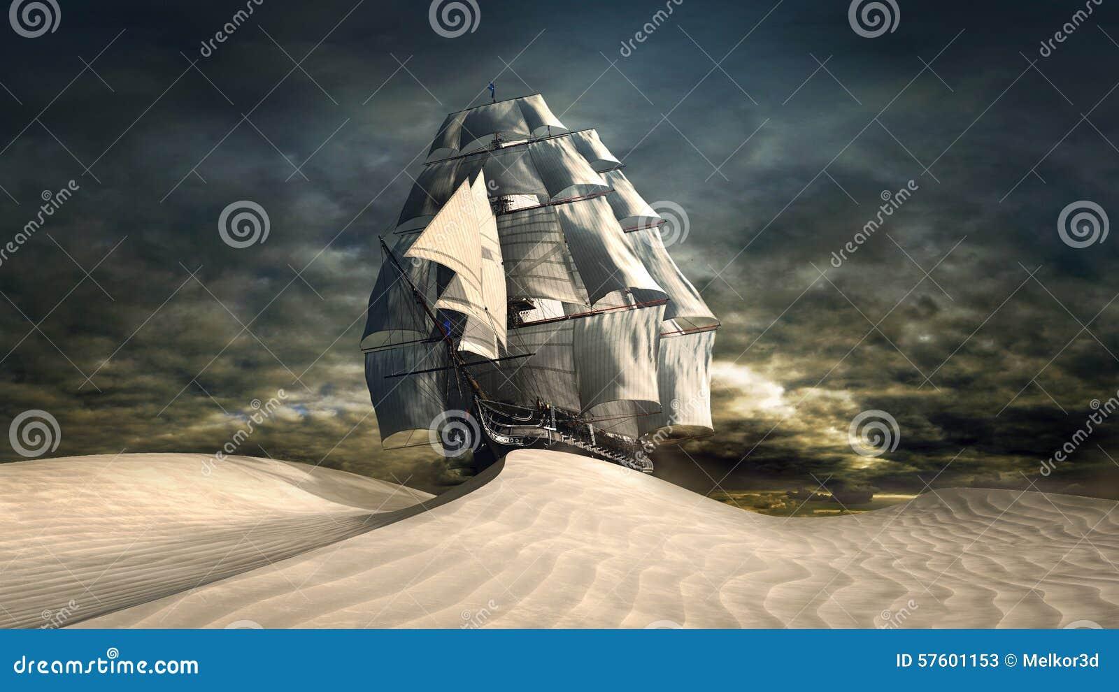 Risultati immagini per nave che naviga sul deserto