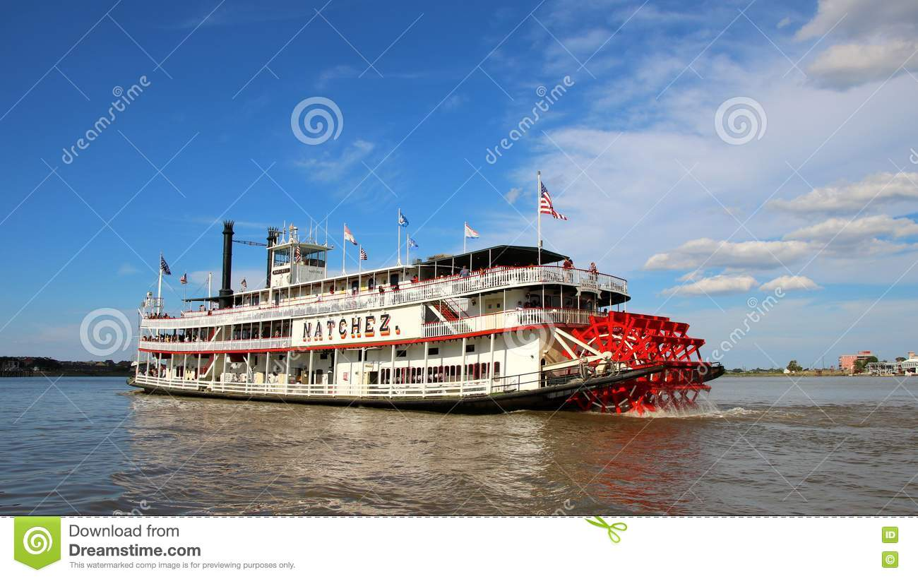 Nave a vapore NATCHEZ, fiume Mississippi di New Orleans