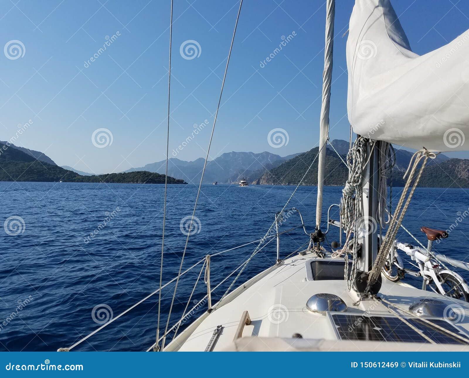 Navegando o cruzamento da vela