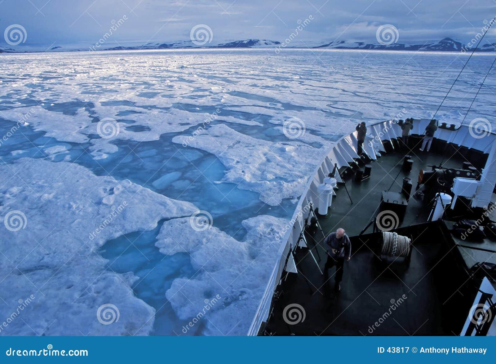 Navegando o gelo de bloco