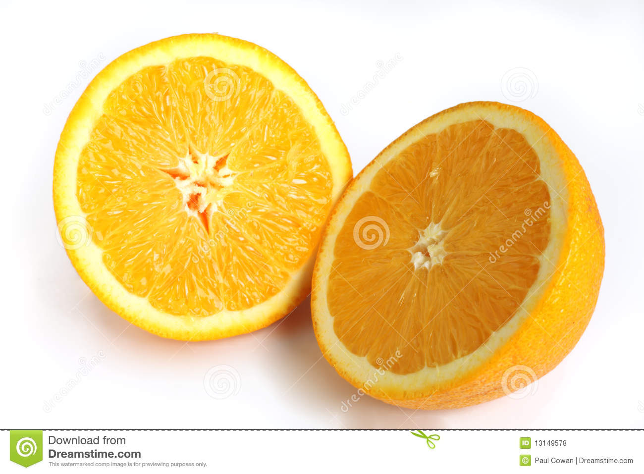 Navel Orange Cut In Half Royalty Free Stock Photos - Image: 13149578