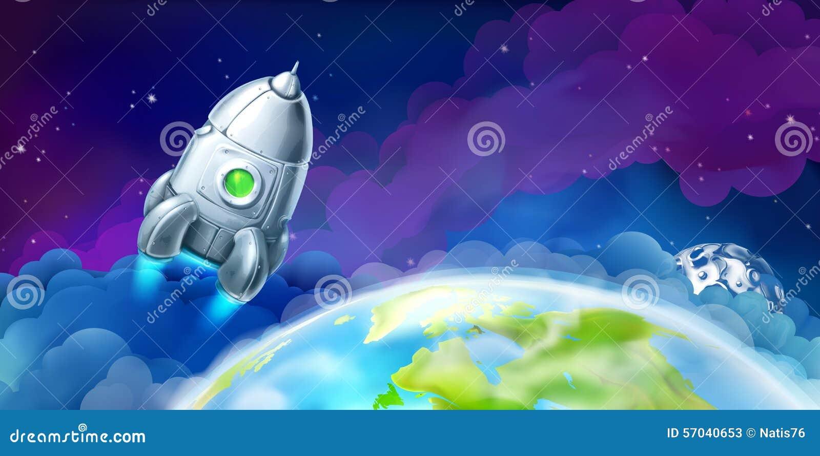 Navetta spaziale sopra la terra