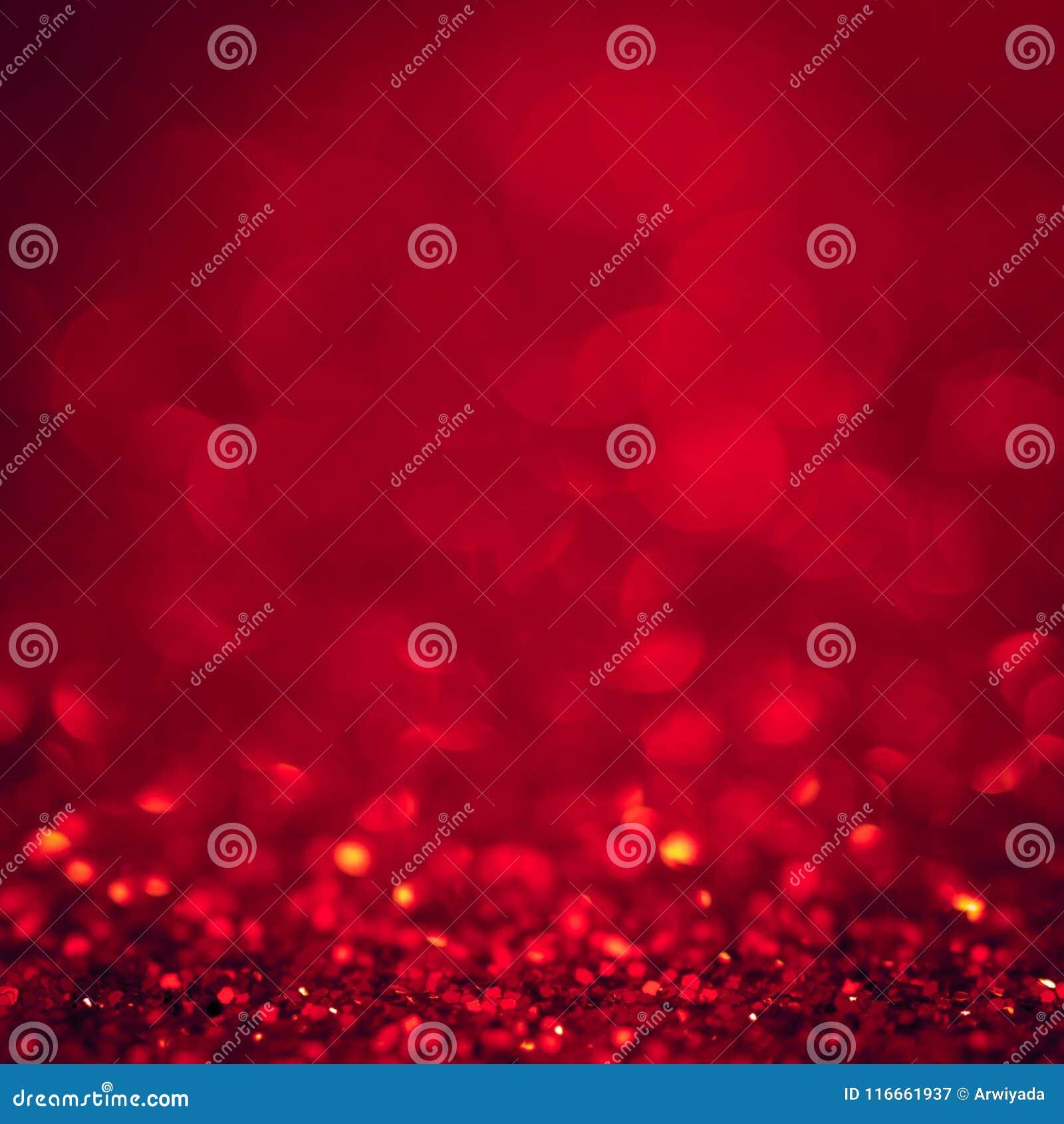 Navidad roja del extracto del brillo de la luz de la Navidad del fondo con el bokeh