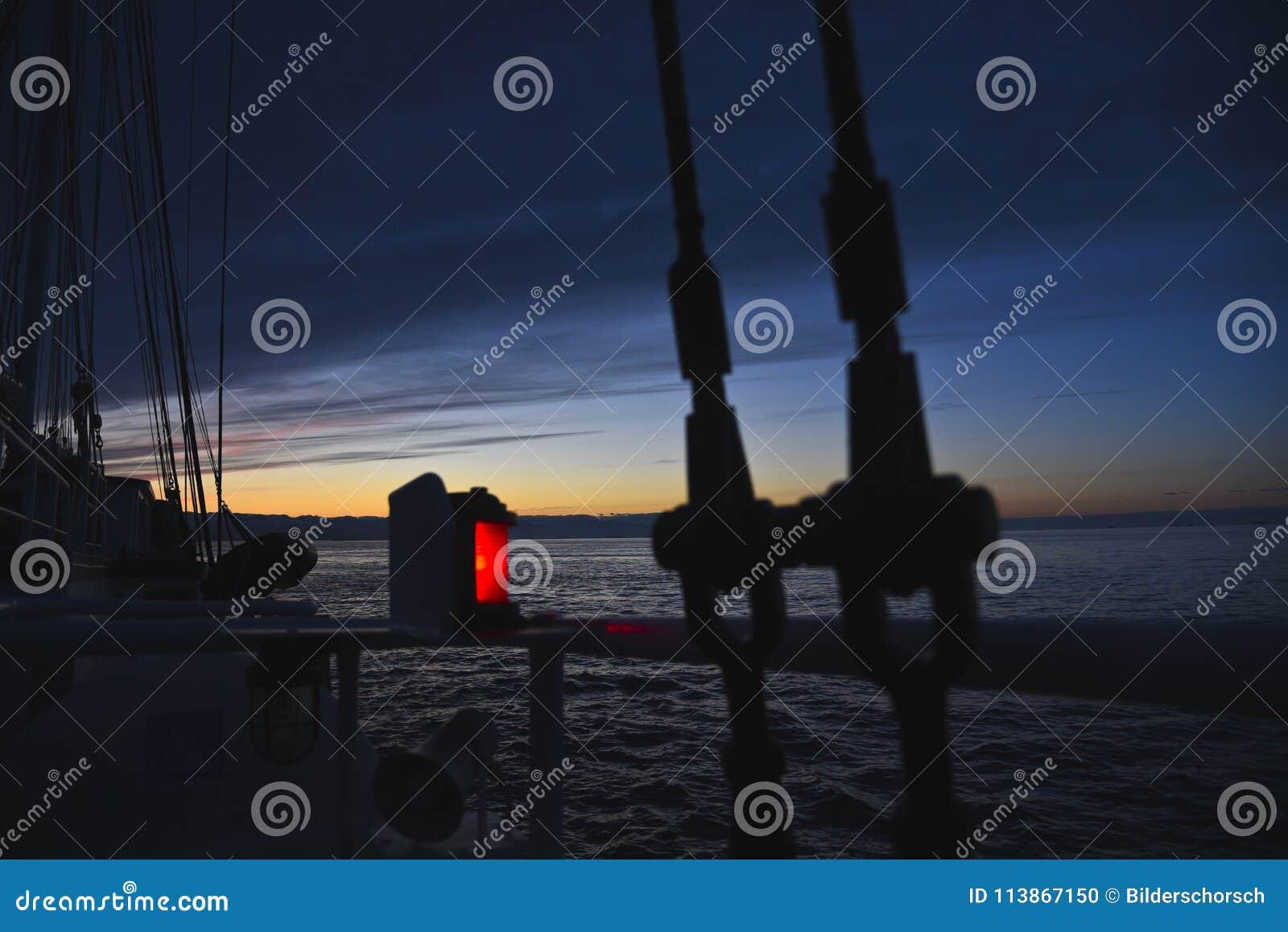 Navigatielicht van een schip