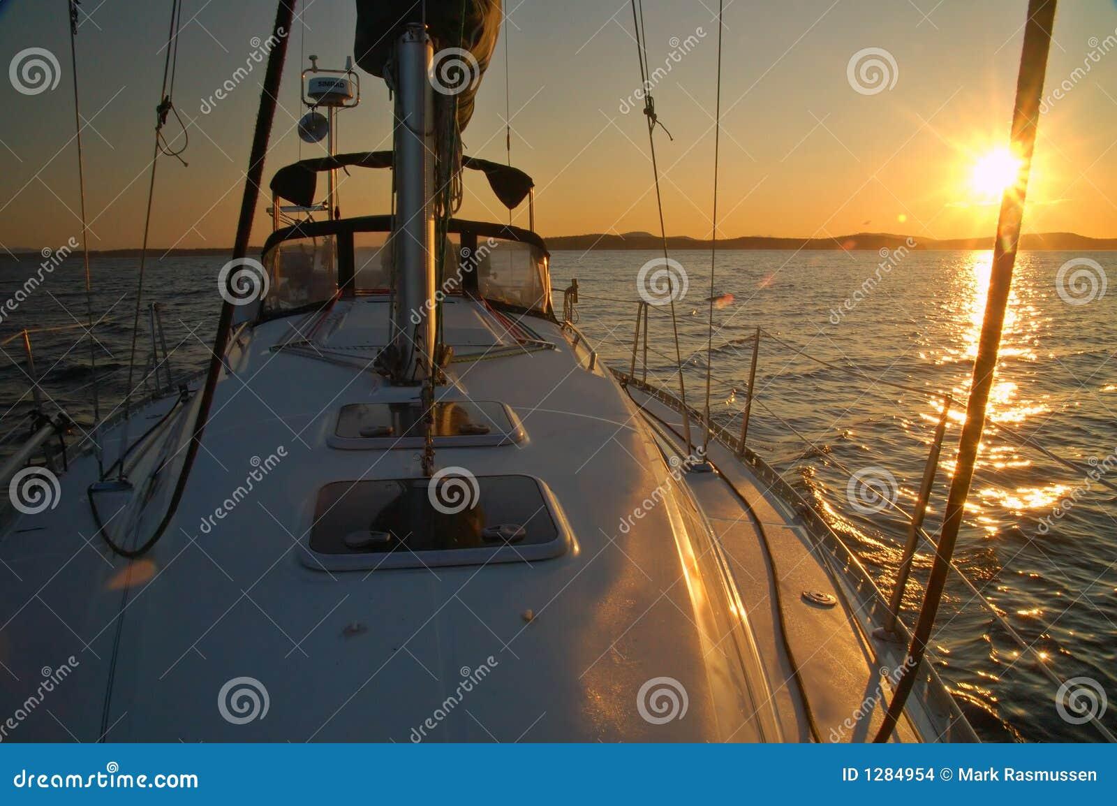 Navigation à partir du coucher du soleil