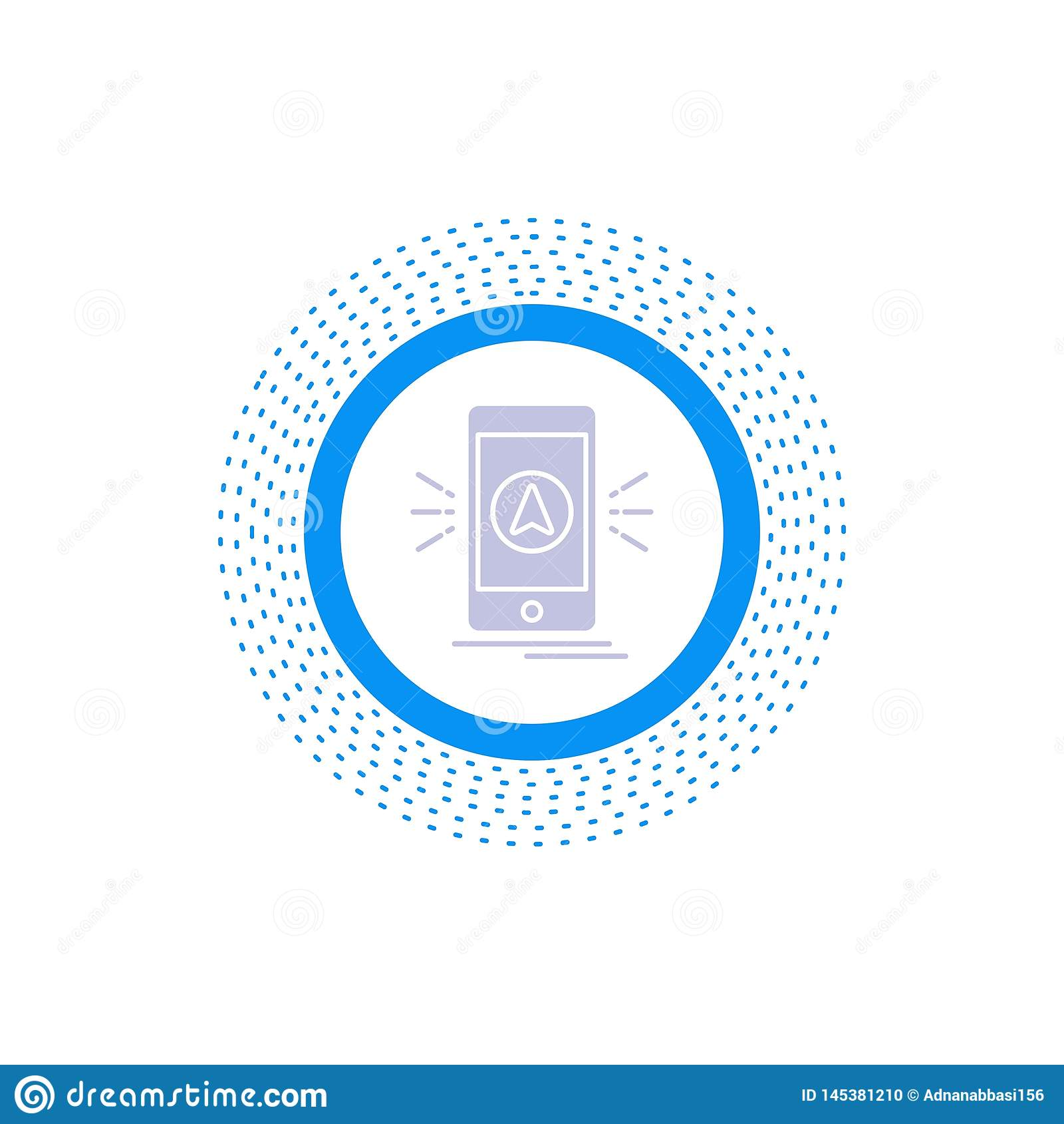 Navigation, App, kampierend, gps, Standort Glyph-Ikone Vektor lokalisierte Illustration