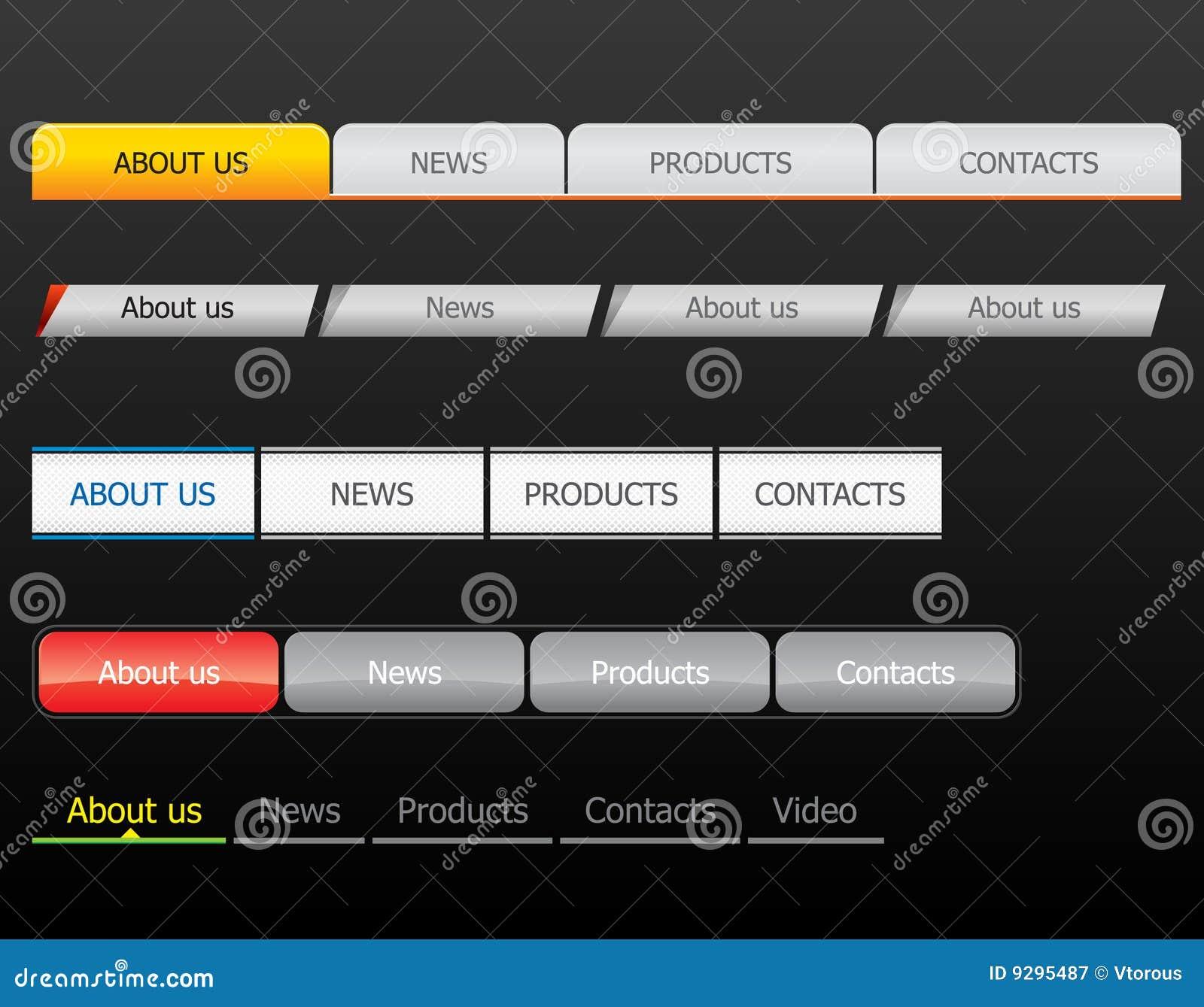 Navigation Bar Templates Royalty Free Stock Photography