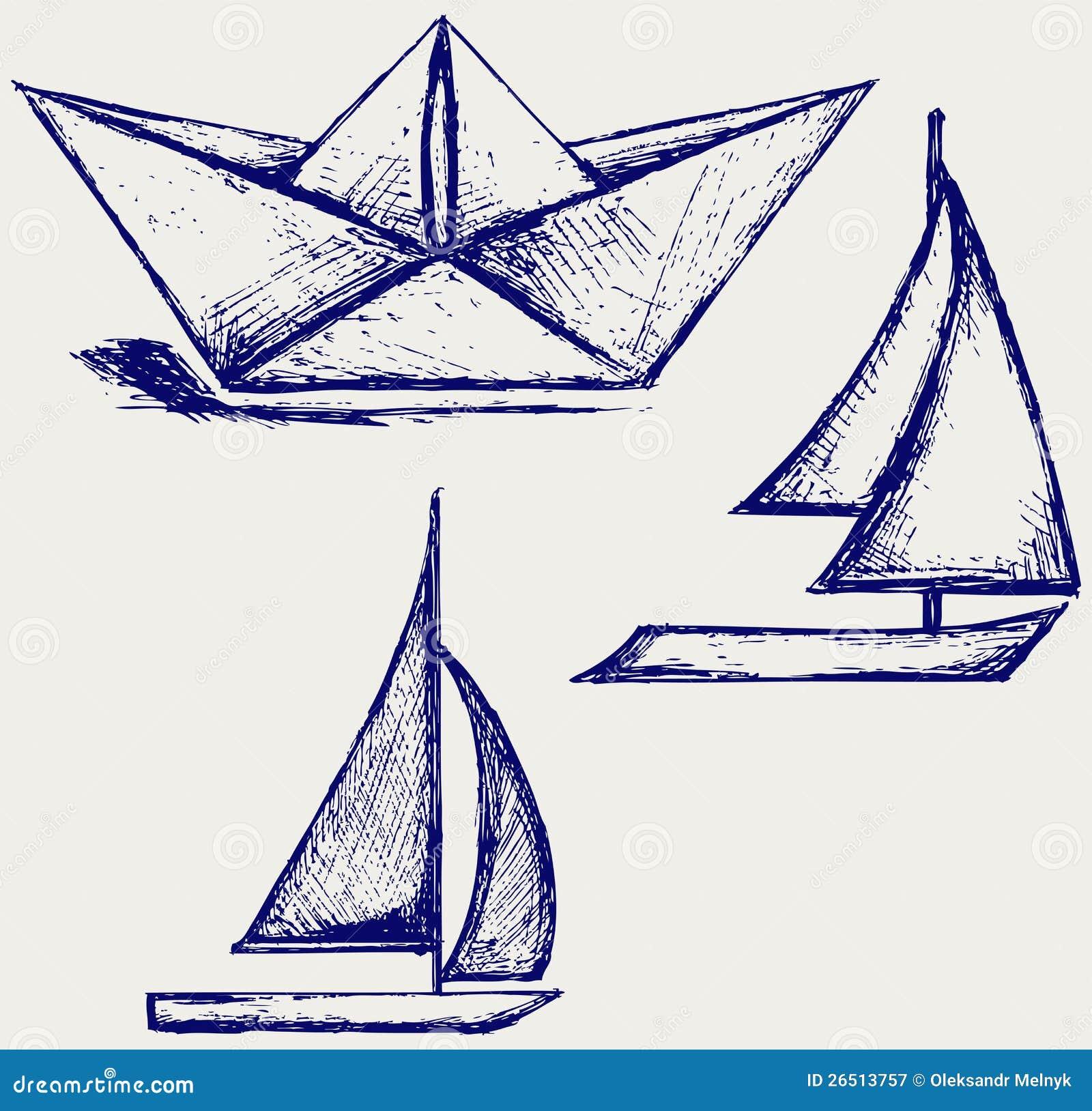 navigation de bateau et de bateau voiles de papier d. Black Bedroom Furniture Sets. Home Design Ideas