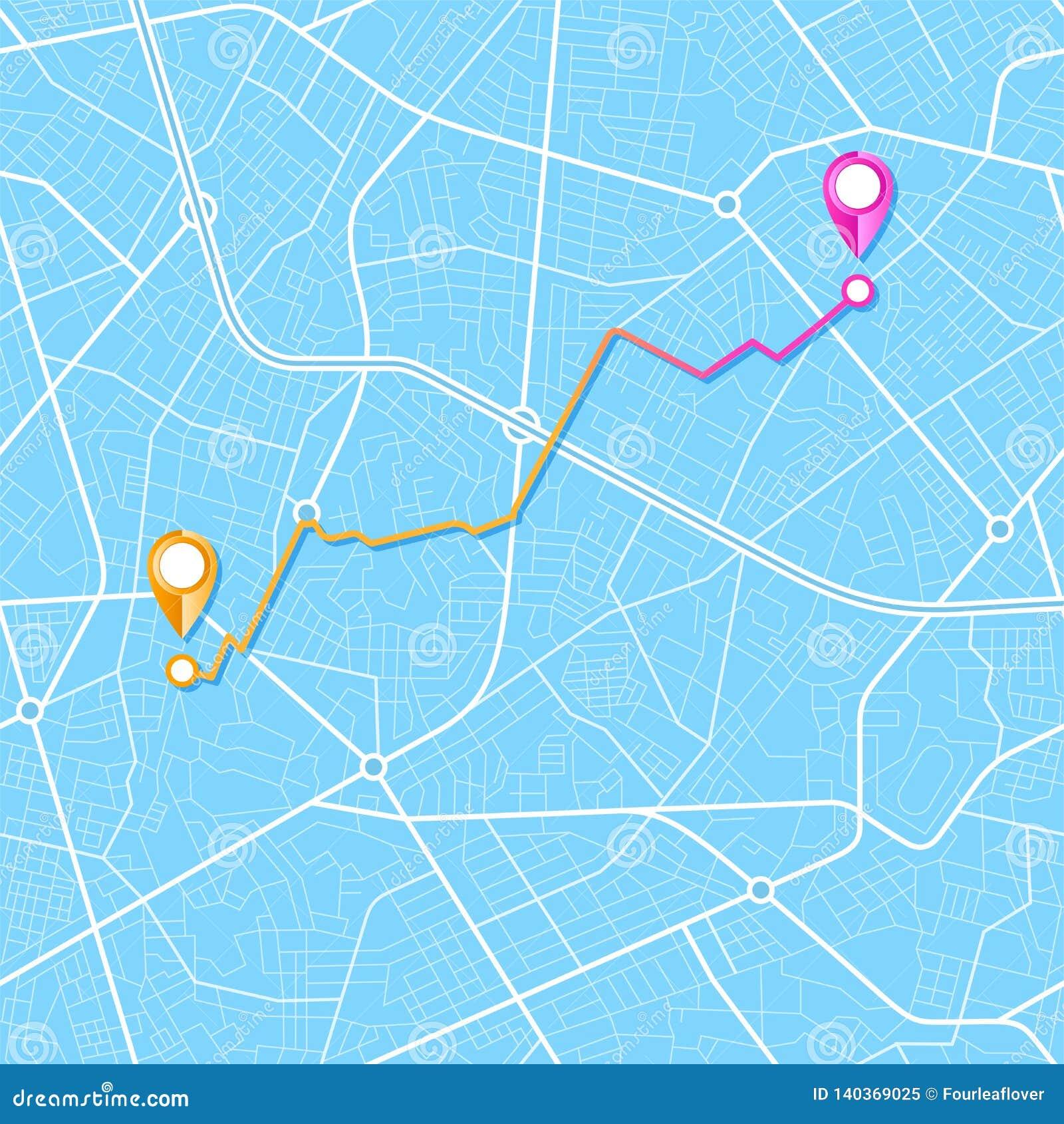 Navigation de carte de ville