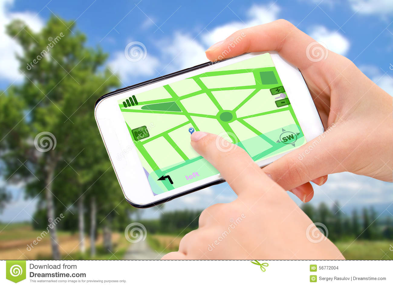 Navigation in phone.