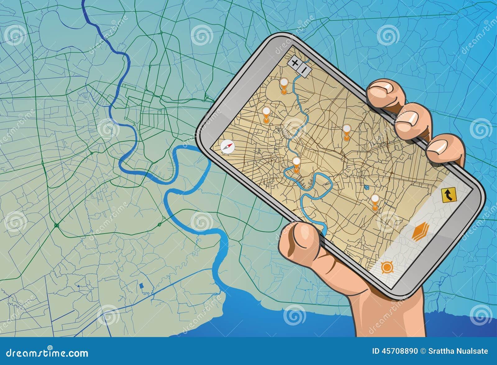 Navigatore mobile a disposizione