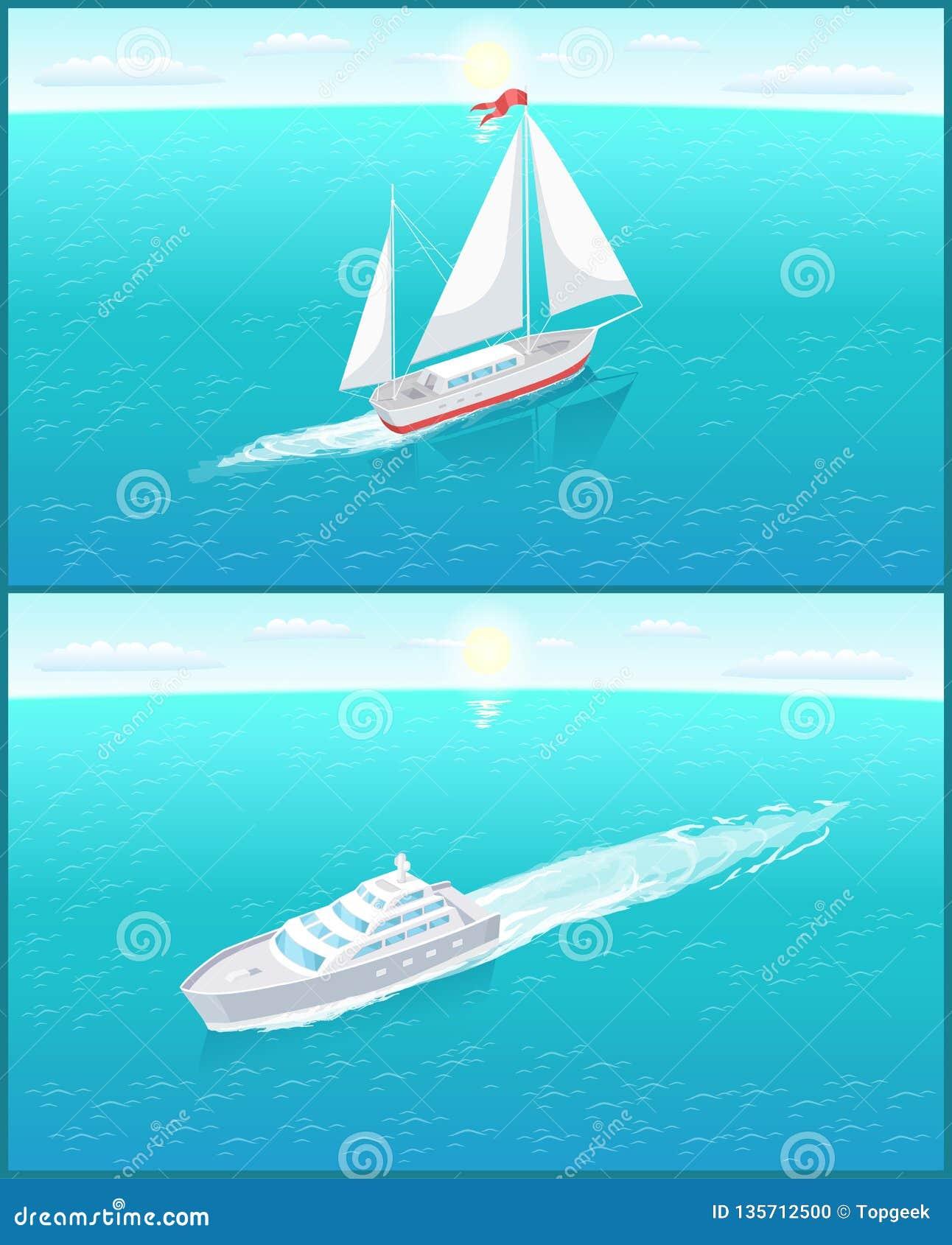 Navigazione bianca della tela della barca a vela e fodera di passeggero