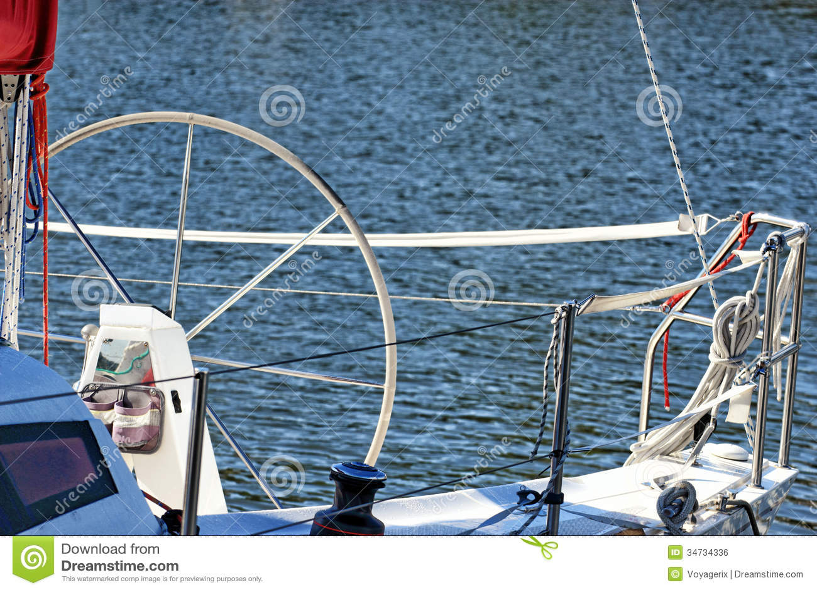 Parti Di Una Barca navigazione da diporto. parti dell'yacht. dettaglio di una