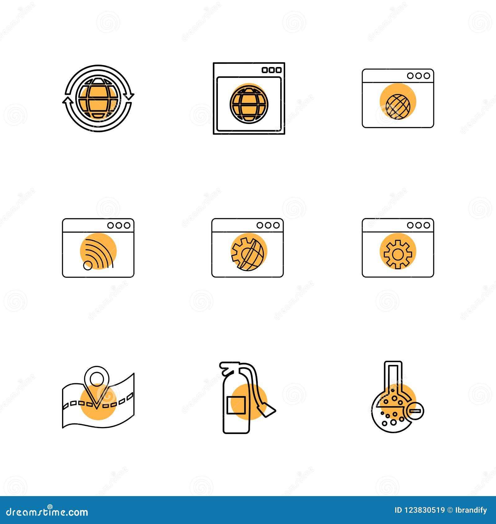 Navigazione, extingusher del fuoco, prodotto chimico, finestre, ui, disposizione