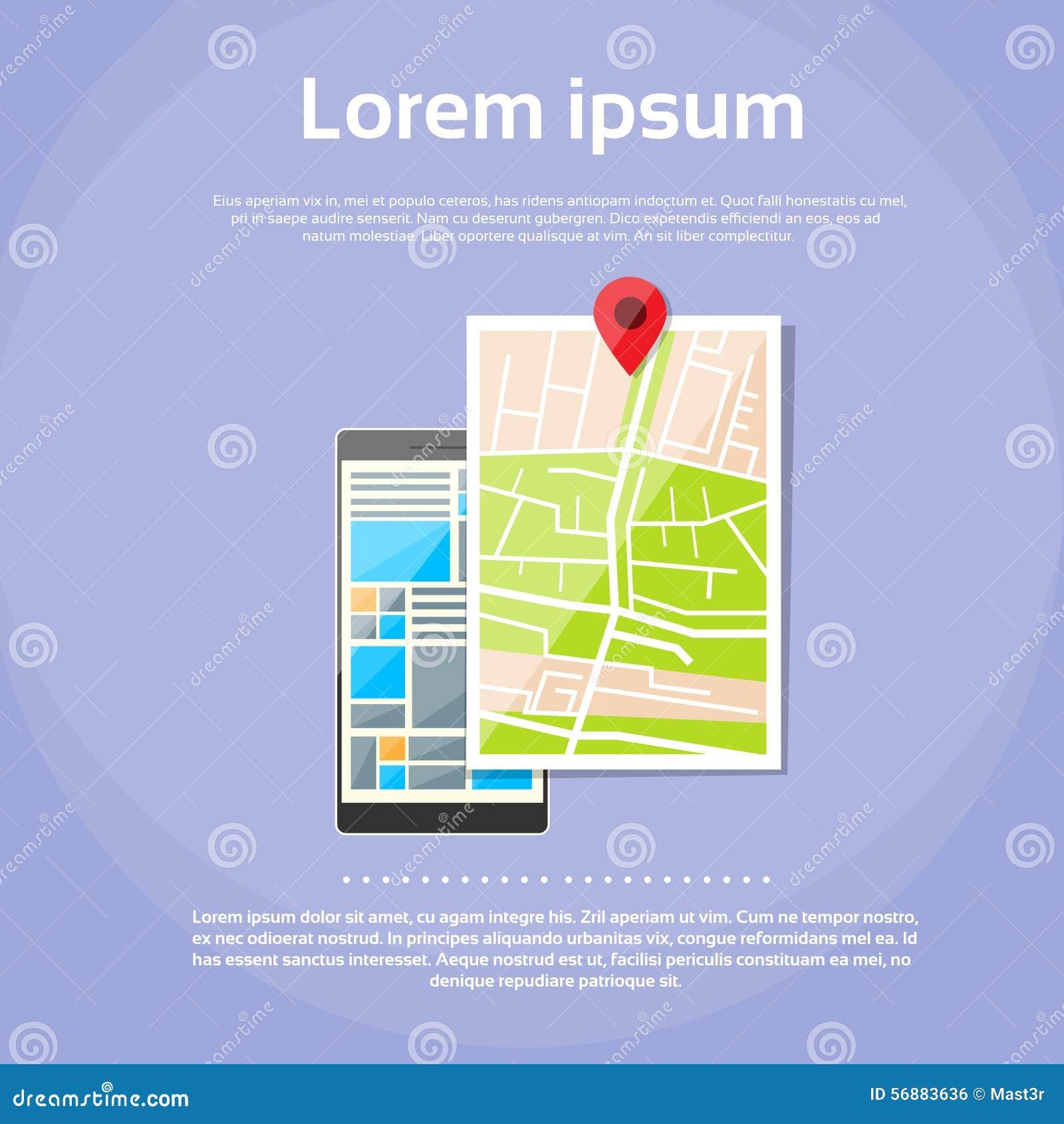 Navigazione mobile del globo dei gps della mappa di mondo del telefono cellulare