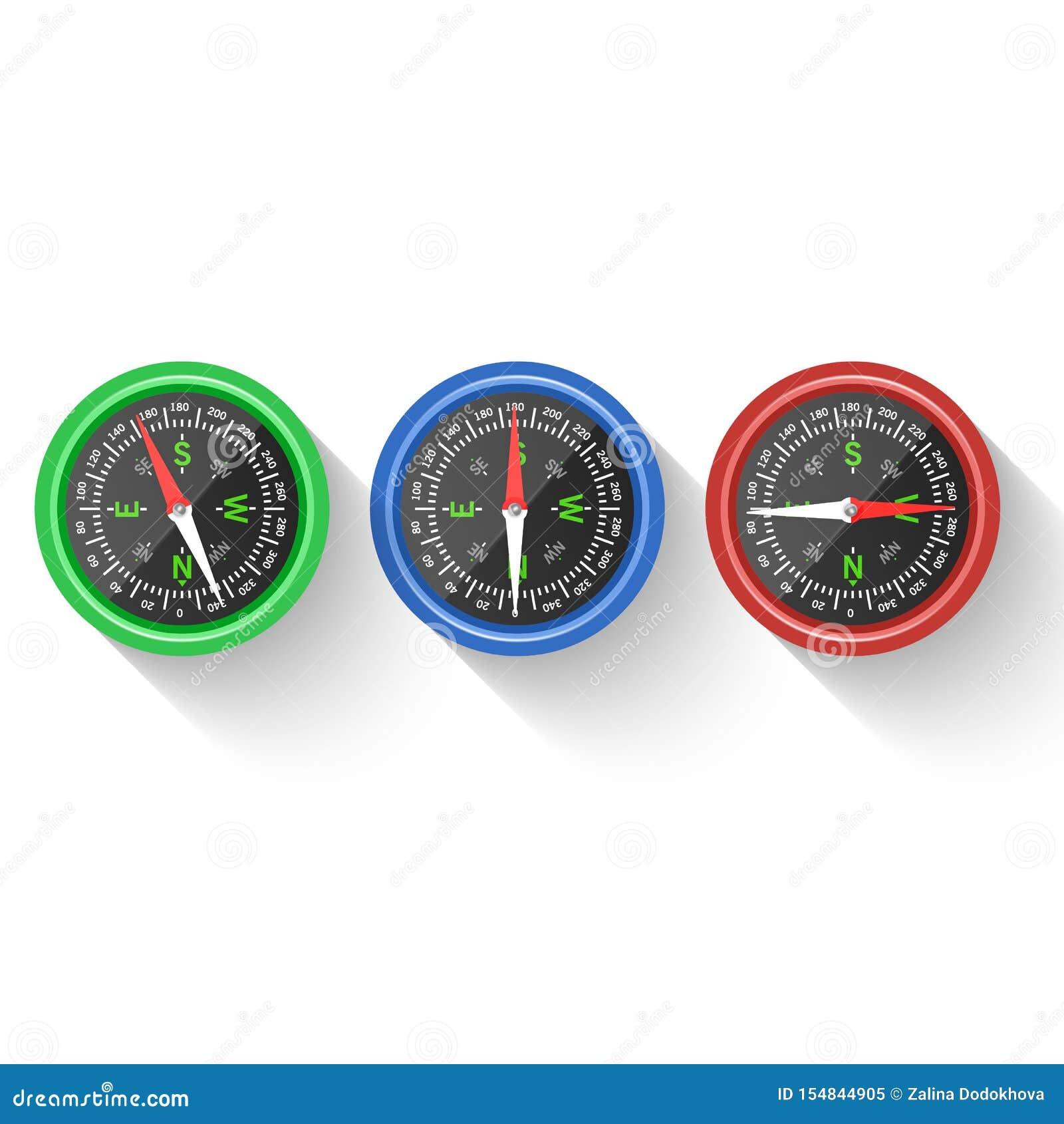 Navigering- och riktningssymbol Kompass, riktning och navigering för affärsföretaget, illustration av kompasspilen som isoleras p