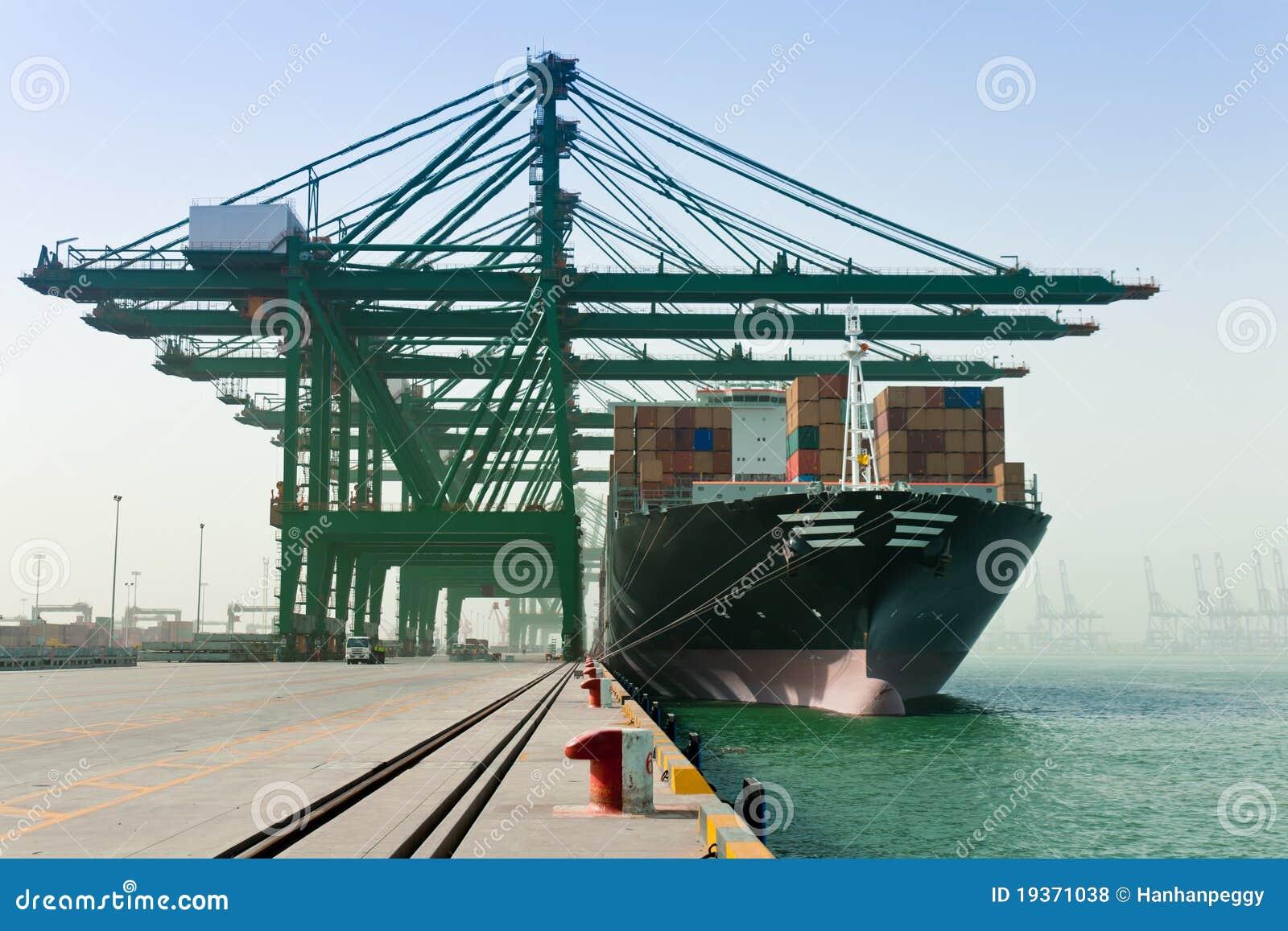 Navio de recipiente do carregamento