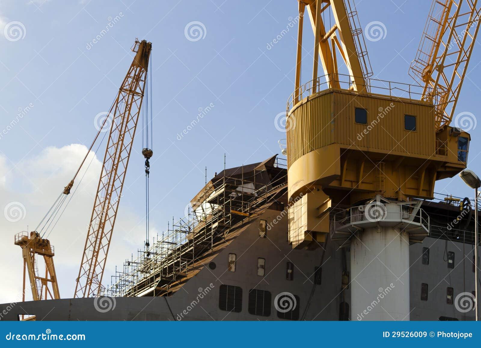 Navio sob a construção