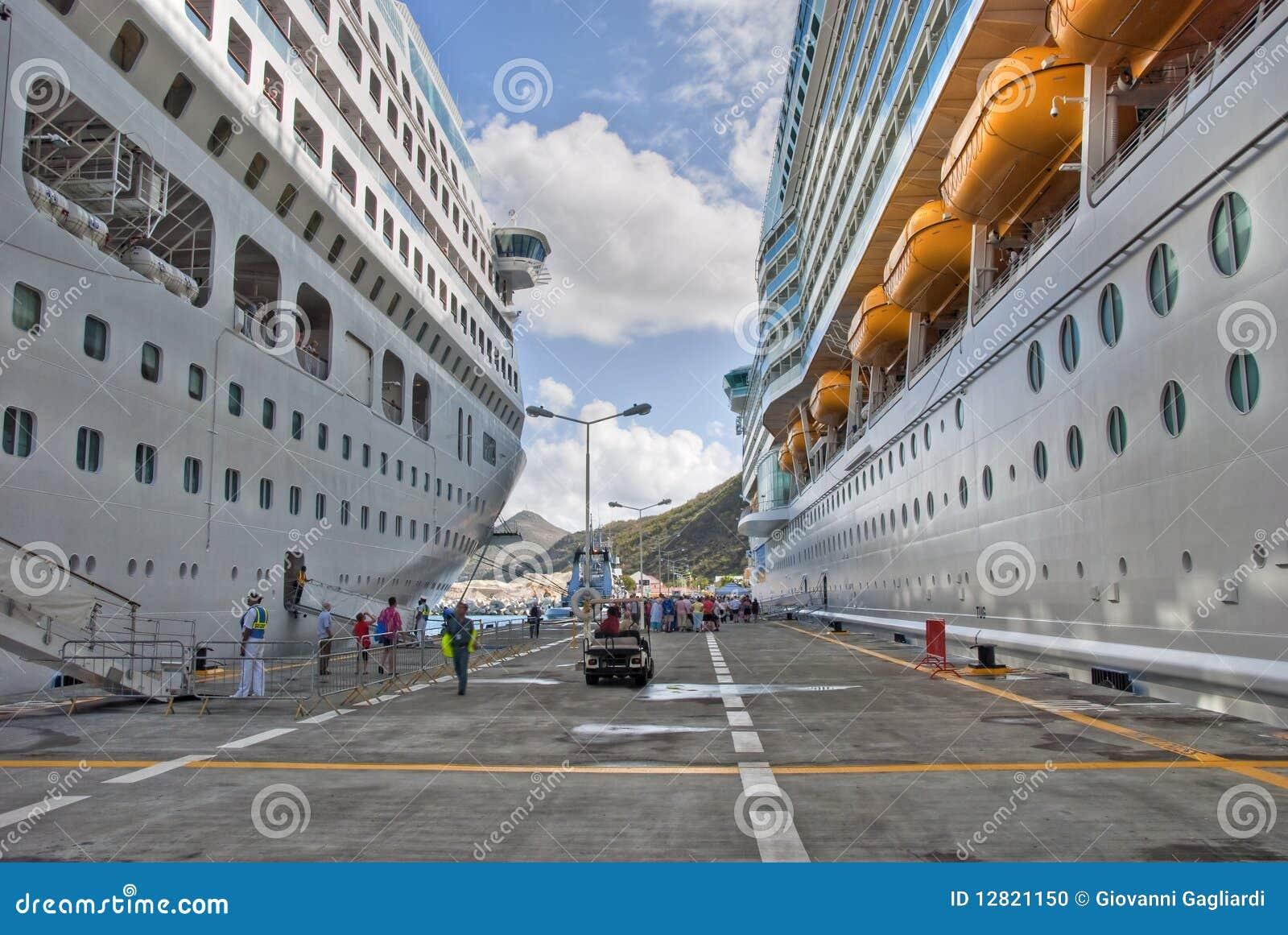 Navios de cruzeiros em Saint Maarteen, Antilhas holandesas