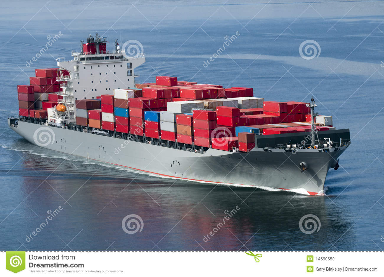 Navire porte conteneurs photos libres de droits image for Porte conteneur
