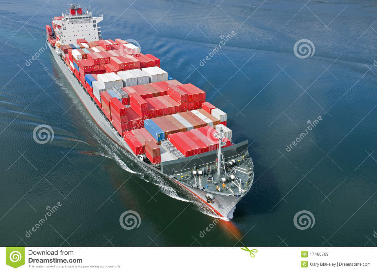 Navire porte conteneurs image stock image du d tail for Porte conteneur