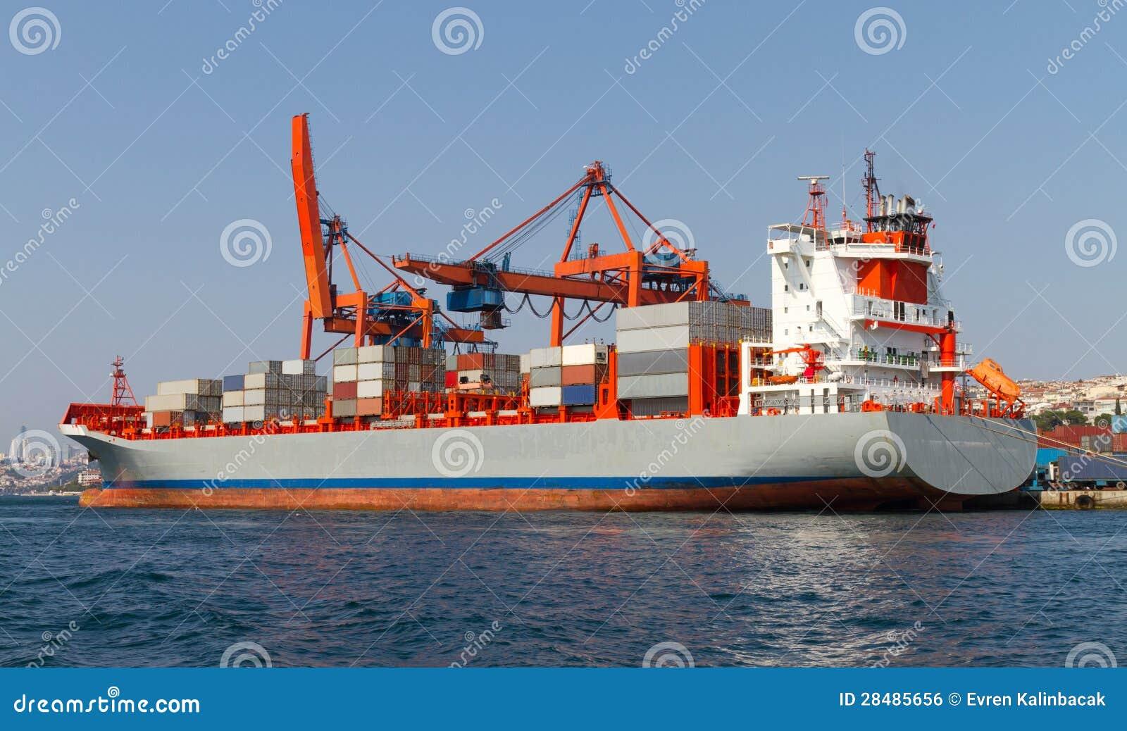 Navire porte conteneurs image libre de droits image for Porte conteneur