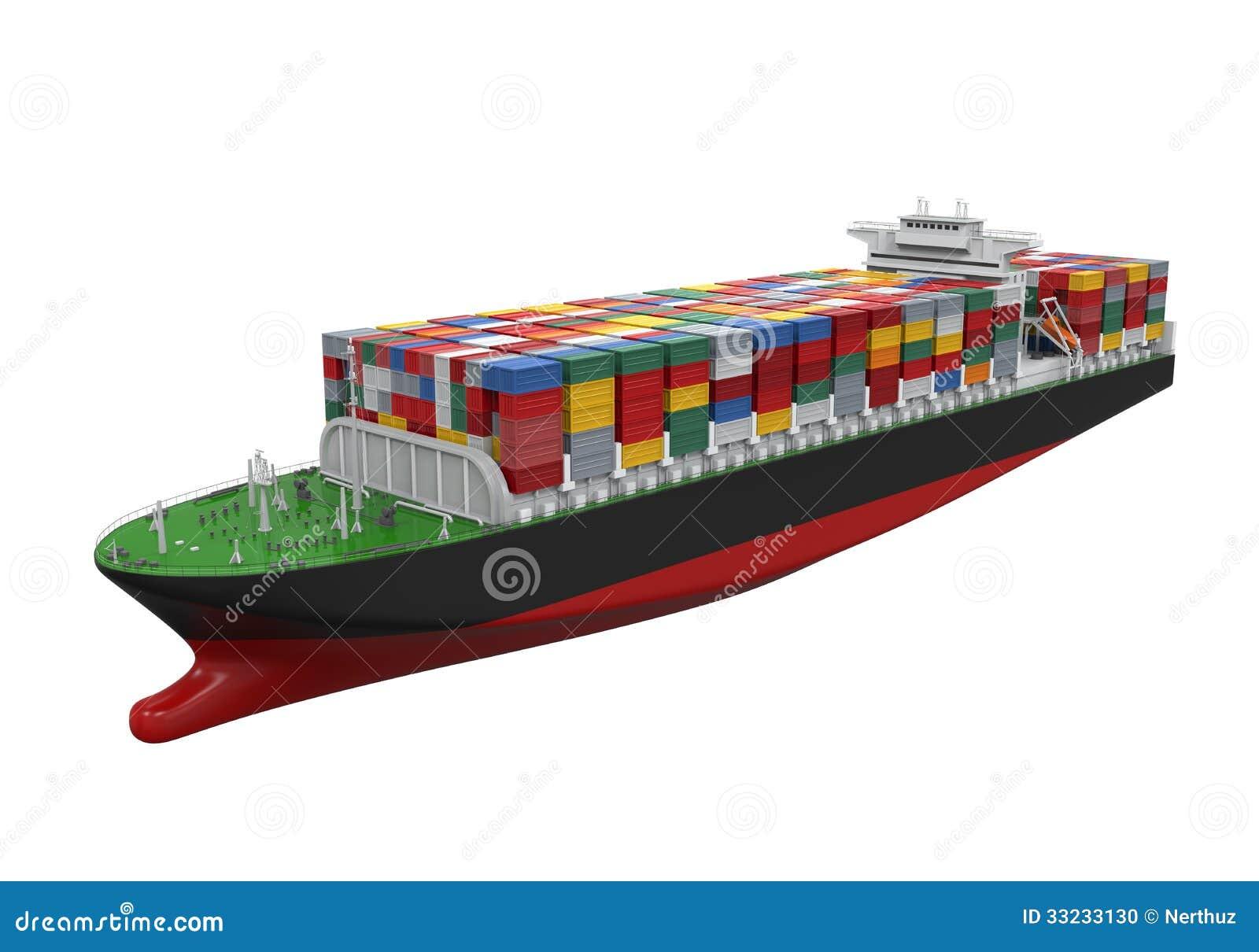 Navire porte conteneurs de cargaison d 39 isolement for Porte conteneur