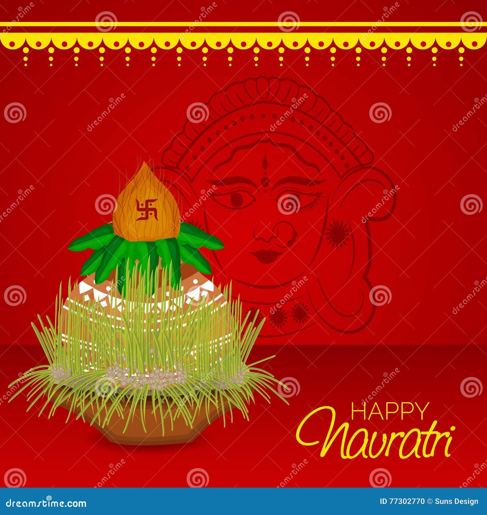 Navratri stock illustration illustration of auspicious 77302770 navratri auspicious happiness kristyandbryce Choice Image