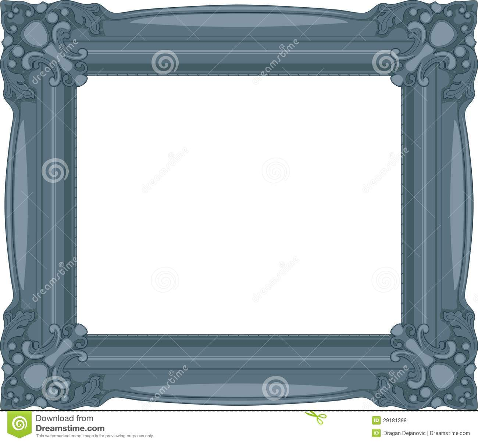 navy blue baroque frame stock vector illustration of interior 29181398. Black Bedroom Furniture Sets. Home Design Ideas