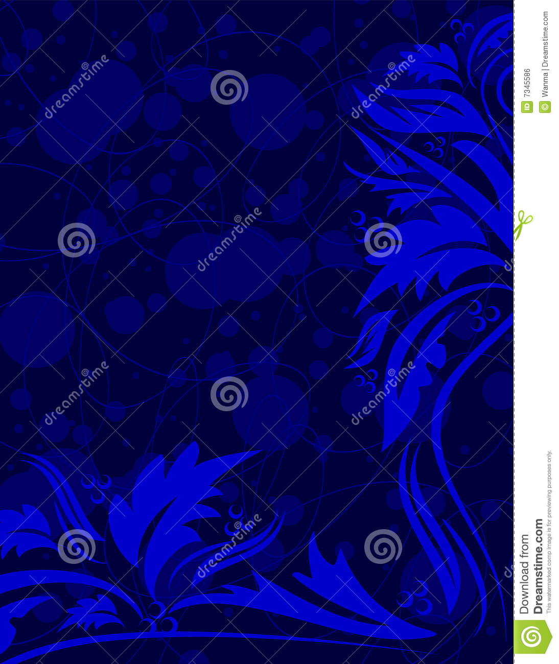 Navy Blue Floral Background Royalty Free Stock Image - Image: 7345586