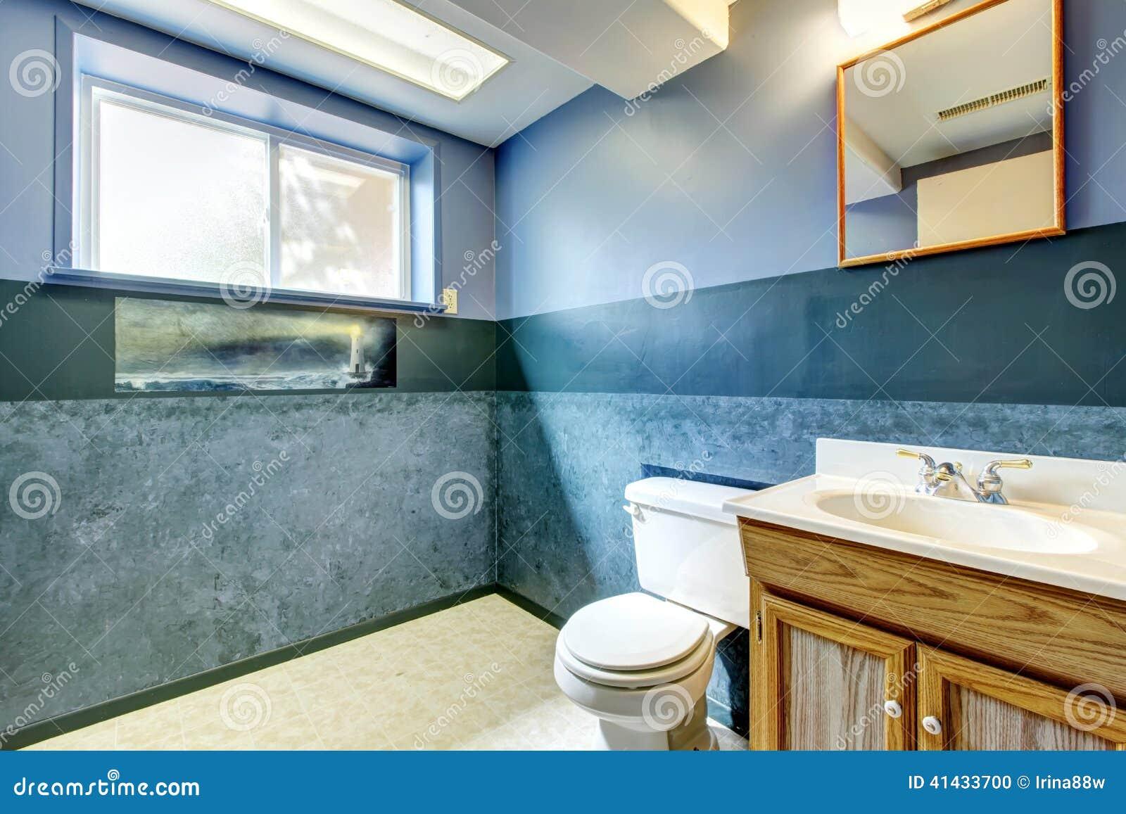 navy empty bathroom stock photo image of idea building 41433700. Black Bedroom Furniture Sets. Home Design Ideas