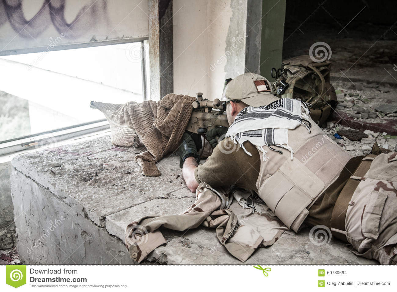 Navy Seal Sniper stock photo. Image of tactical, seal ...