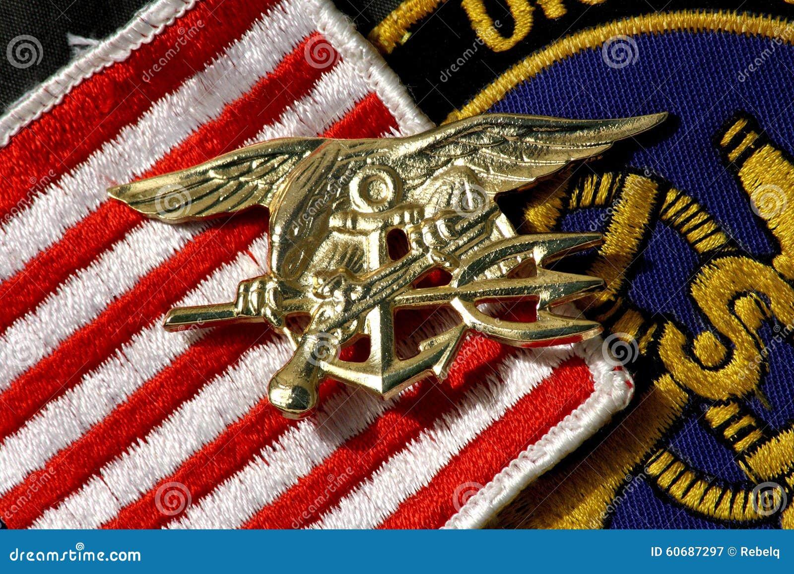 Navy SEALs Insignia TRIDENT Stock Photo - Image: 60687297