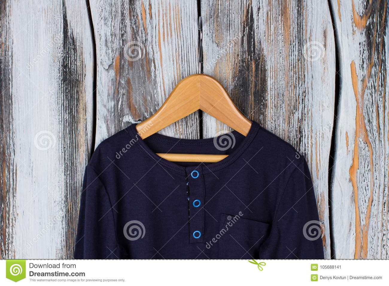 Navy top with blue buttons stock image  Image of lounge