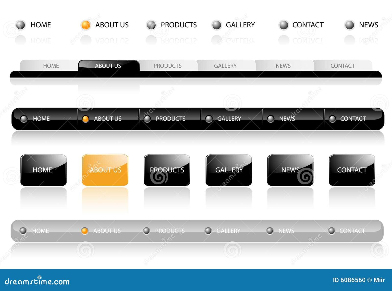 Nawigacja editable szablonów witryny internetowej