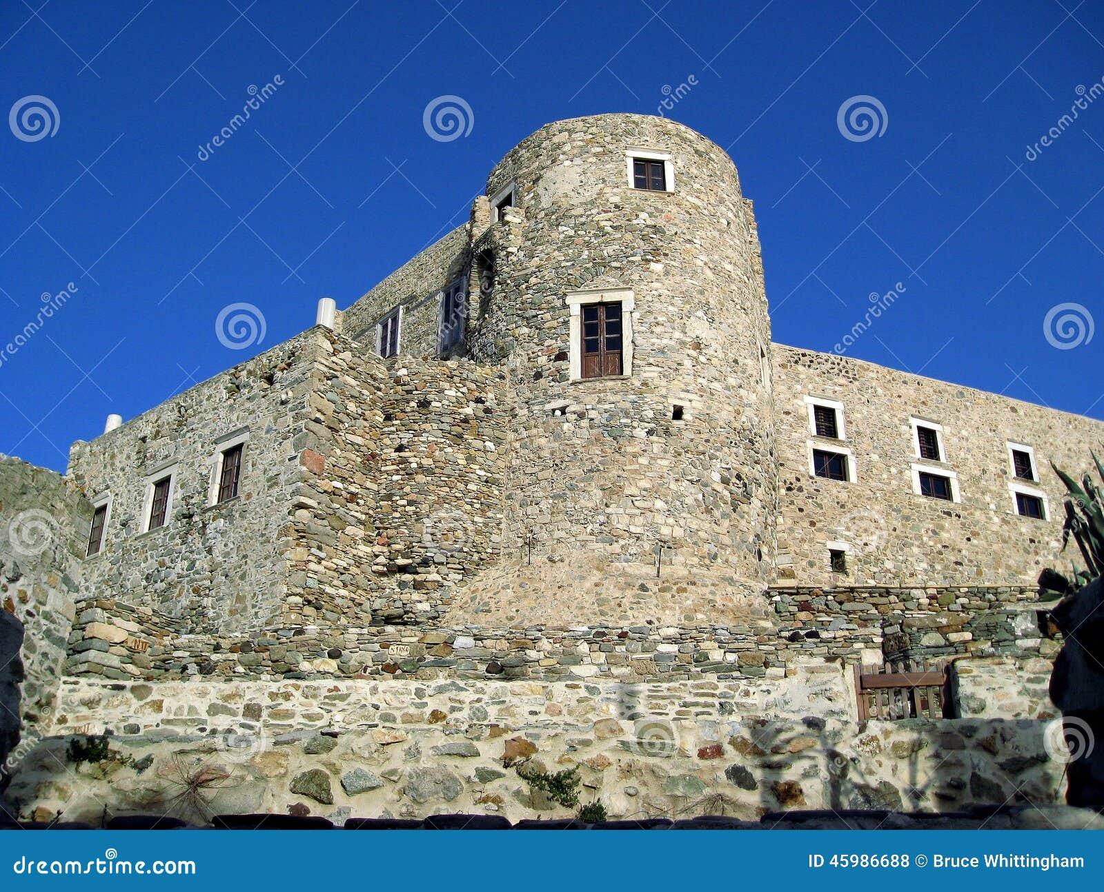 Naxos castle kastro naxos town cyclades group island agean sea