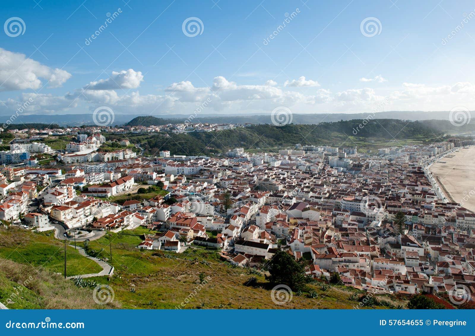 Nazare i Pederneira, Praia, widzieć od SÃtio