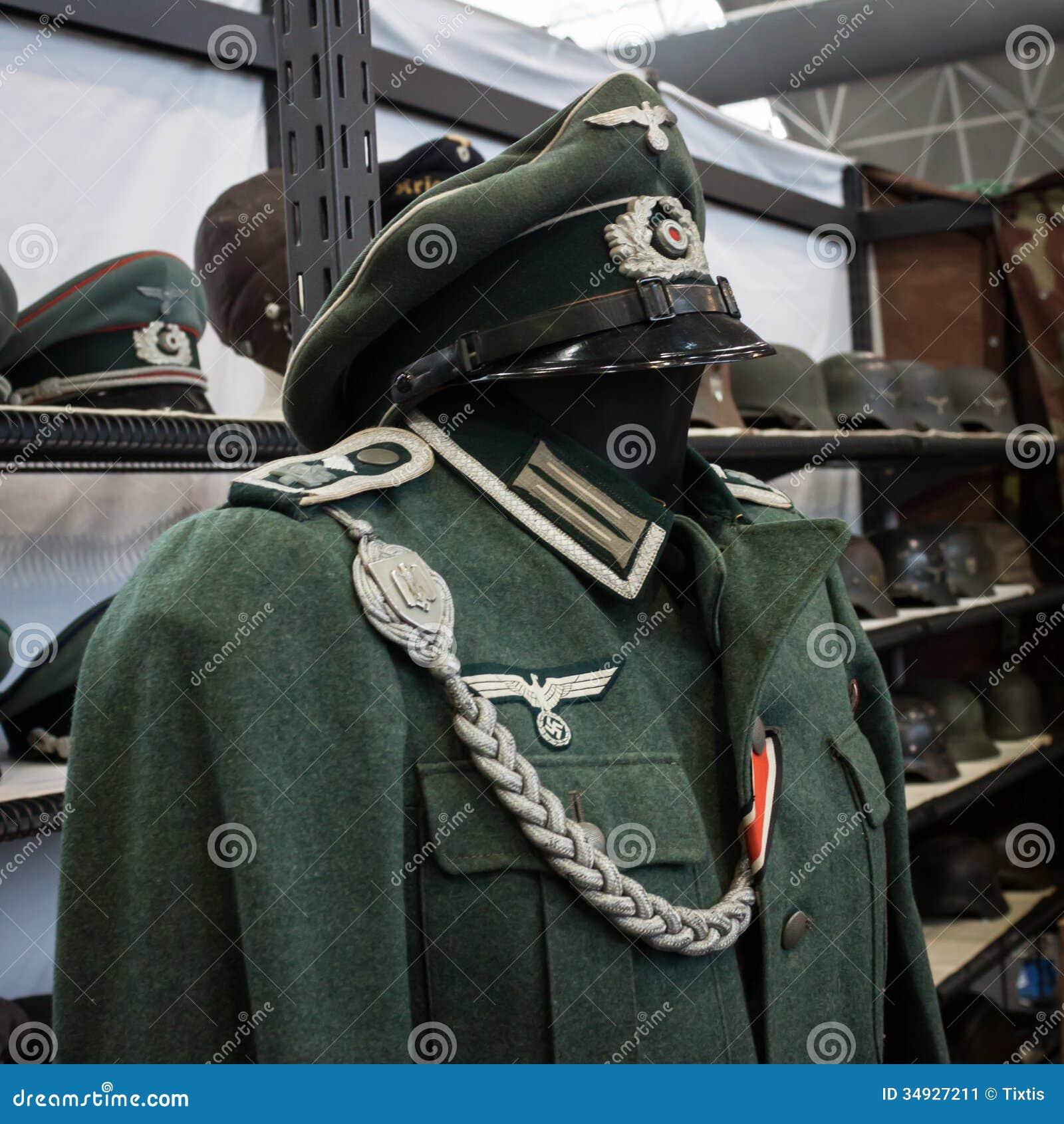 Exhibition Booth Vector Free Download : Nazi uniform at militalia in milan italy editorial