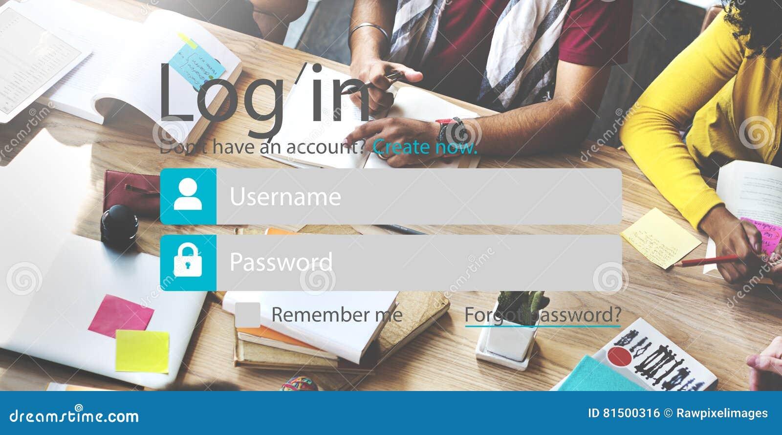 Nazwy użytkownika hasła tożsamości prywatności Internetowa Online ochrona Conc