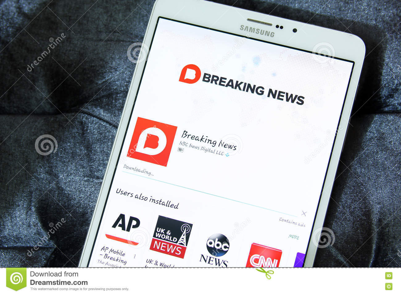 Nbc breaking news app logo editorial stock photo  Image of fast