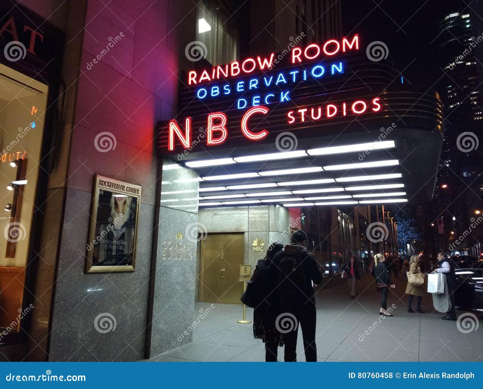 Nbc Studios Rainbow Room Observation Deck 30 Rockefeller Plaza Nyc Usa Editorial Stock Photo Image Of Entrances Attractions 80760458