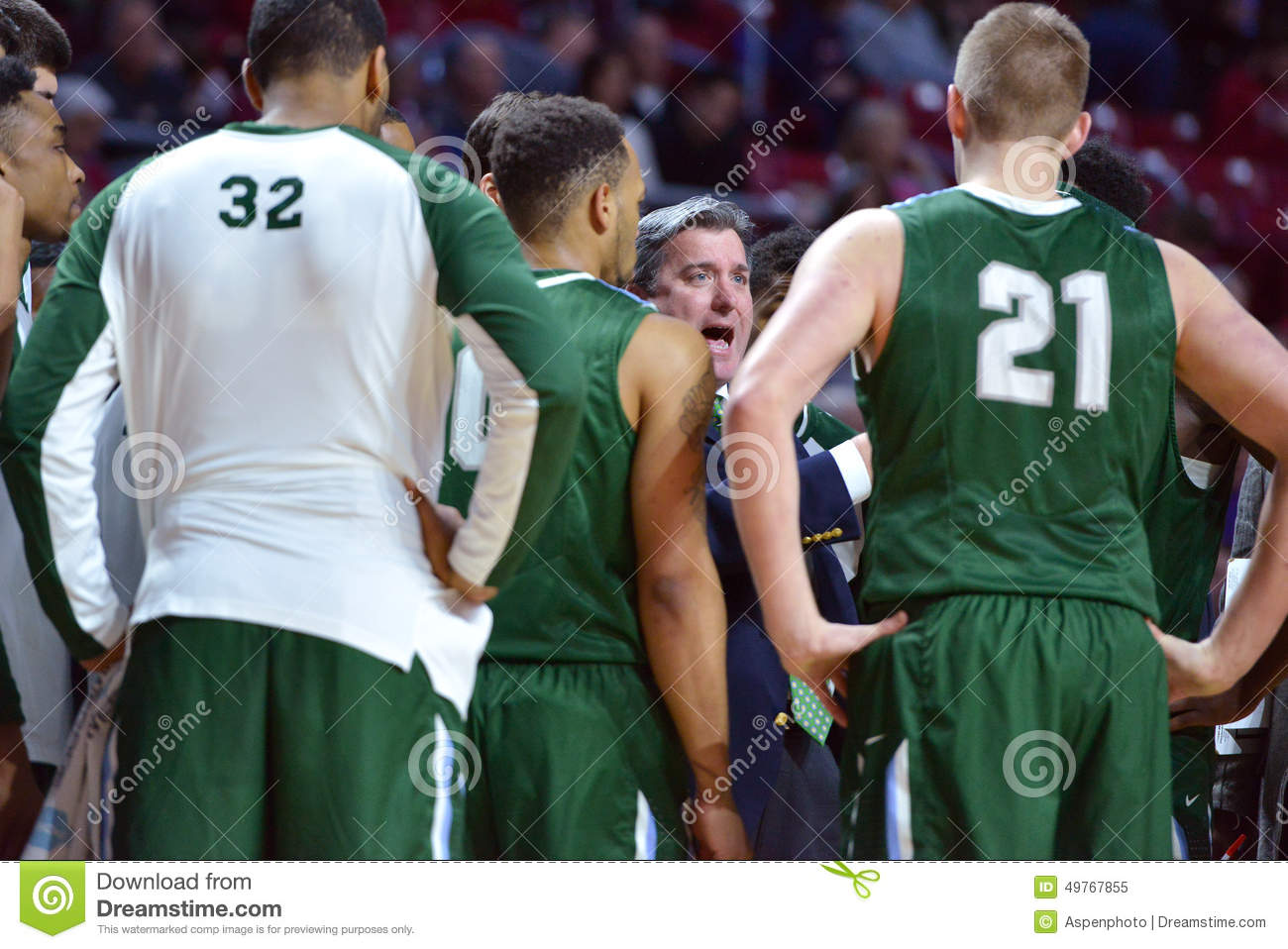 a8949acdf51b PHILADELPHIA - JANUARY 31  Tulane Green Wave head coach Ed Conroy talks to  his team in a timeout during the AAC conference college basketball game  January ...