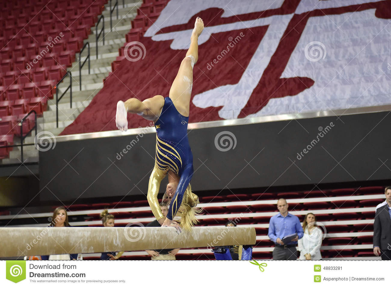 2015 NCAA Ladies Gymnastics - WVU Editorial Photo - Image: 48833281