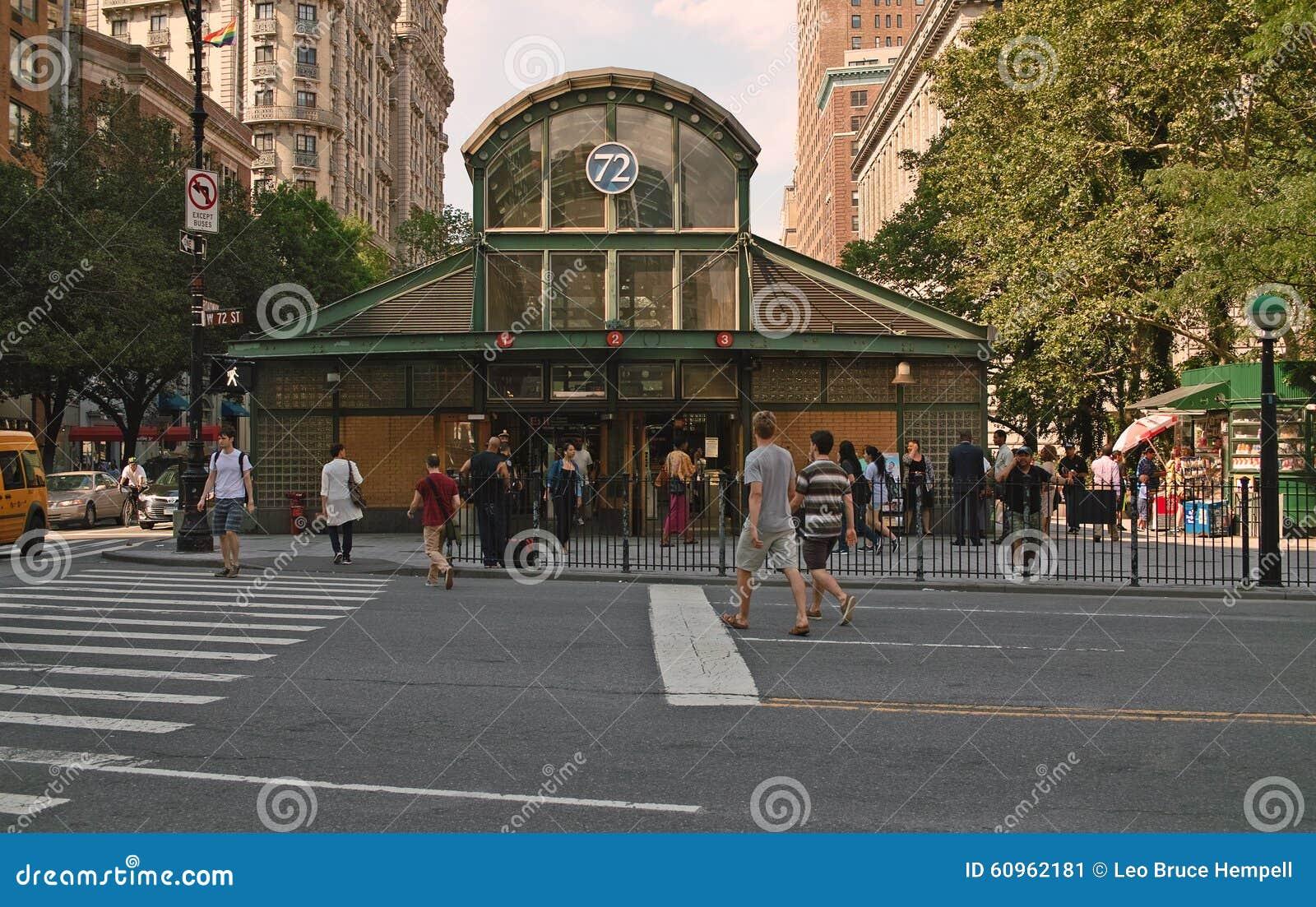 72nd Street Subway Map.72nd Street Broadway Subway Station New York City Editorial Photo