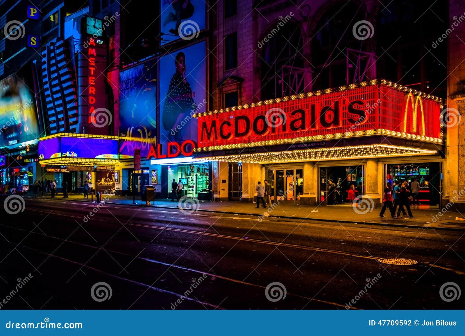 manhattan midtown new night square times york ...